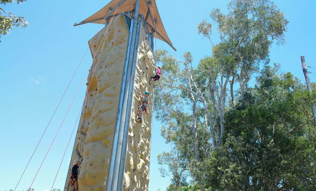 Apex Camps Sunshine Coast Rock Climbing Tower School Holiday activity